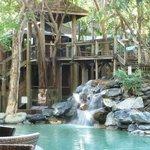 waterfall end of pool