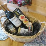 Wine basket that came with romance package