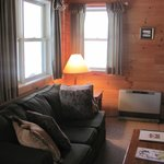 Deluxe cabin living room