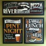 Custom Lost River Pizza Chalkboard Sign by ArtFX Design Studios