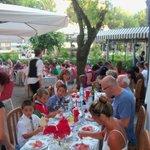 Cena Romagnola nell'esterno dell'Hotel Schiller