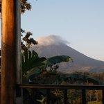 view of Arenal Volcano from Coco Cabin