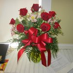 Red Roses waiting for me at the room!