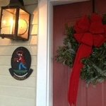 The front door (I did right the light's angle after I took this photo!)
