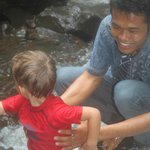 Sanur, the Manager and our guide to the waterfall.