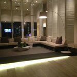 Lounges at the front of the hotel to wait for your car/taxi