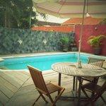 the silver villa pool