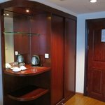 Handy closet and coffee nook space