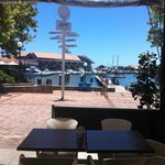 View from the alfresco area of Toscanini's at Hillarys.