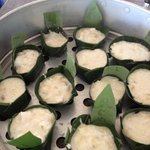 Steamed banana puddings, delish!!!!