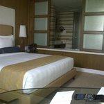 Bed & Washroom View inside room