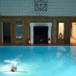 IndoorPool and fireplace