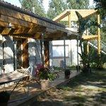 Terrasse bois plein-sud en lisière de foret