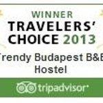 Trendy Budapest B&B Hostel Winner of Traveler's Choice 2013