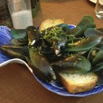 Big blue mussels