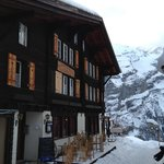 pension and view in winter