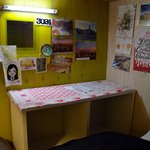 The nook at the head of the bunk.