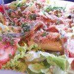 Мой огромный вкусненький салат! Элен ресторан