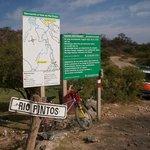 Ubicación del rí Pinto, a 1 km de Cuchi Corral