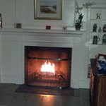 Fireplace in King George Suite