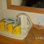 bollitore disponibile in stanza (un pò sporco e mai usato)