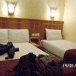 stanza doppia con letti singoli (in realtà uno era una piazza e mezza!)