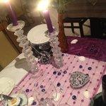 une des décorations de table