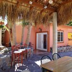 Palapa and cental dining areas