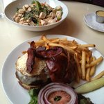 Peanut Chicken salad and Burger