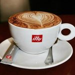 Serving the finest Illy coffee