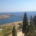 View from Lindos