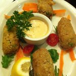 Chicken and Mushroom croquette appetizer