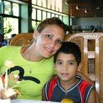 MARLEIDIS AND HER SON-LOS CORALES,SANTIAGO DE CUBA
