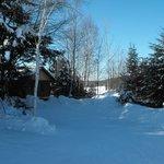 petit sentier pour la raquette ou ski de font