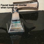 Leaking faucets - you didn't want to leave anything on the sink anyway