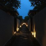 Path around villas