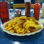 Lunch time seafood platter,8.95.Would be 30.00 at the beach