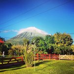 View of Volcan Arenal from the restaurant