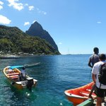 Water taxi to Pitons