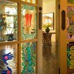 Painted Doors at Cafe Plazuela at Hotel Albuquerque