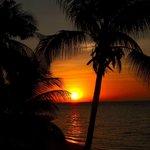 Sonnenuntergang von der Veranda aus