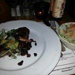 steak and cesar salad