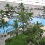 Nice heated pool, great beach a hop, skip and jump away