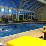 Gorgeous Indoor Pool Area at Bushkill Inn