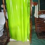 il bagno all'interno della tenda
