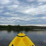 Kayaking on Lagoon by Sea