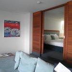 Seashells - Lounge Area & Upstairs to the Bedroom