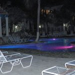 Mesmerizing Evening Pool Lights Change Colors