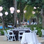 Chill Out Chic Poolside Reception Dinner