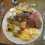 Just a small sample of the WIDE variety of food from the breakfast buffet.